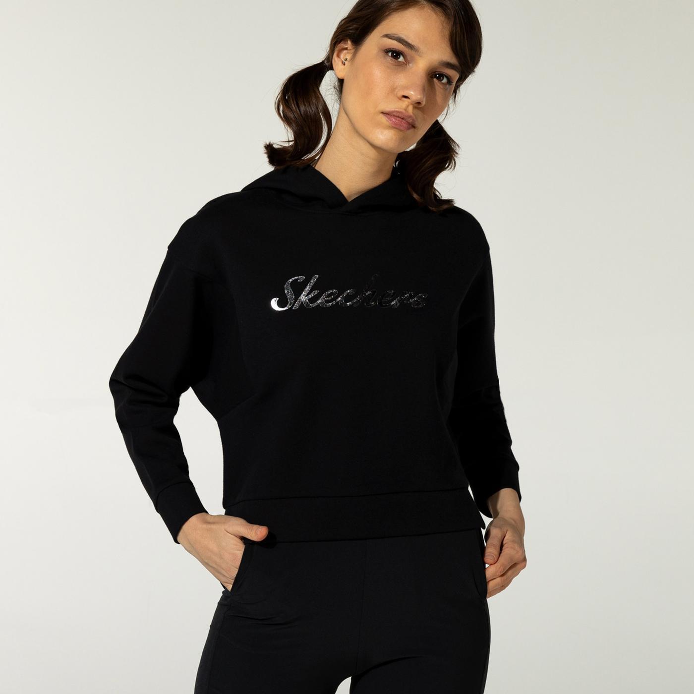 Skechers 2XI-Lock Kadın Siyah Sweatshirt
