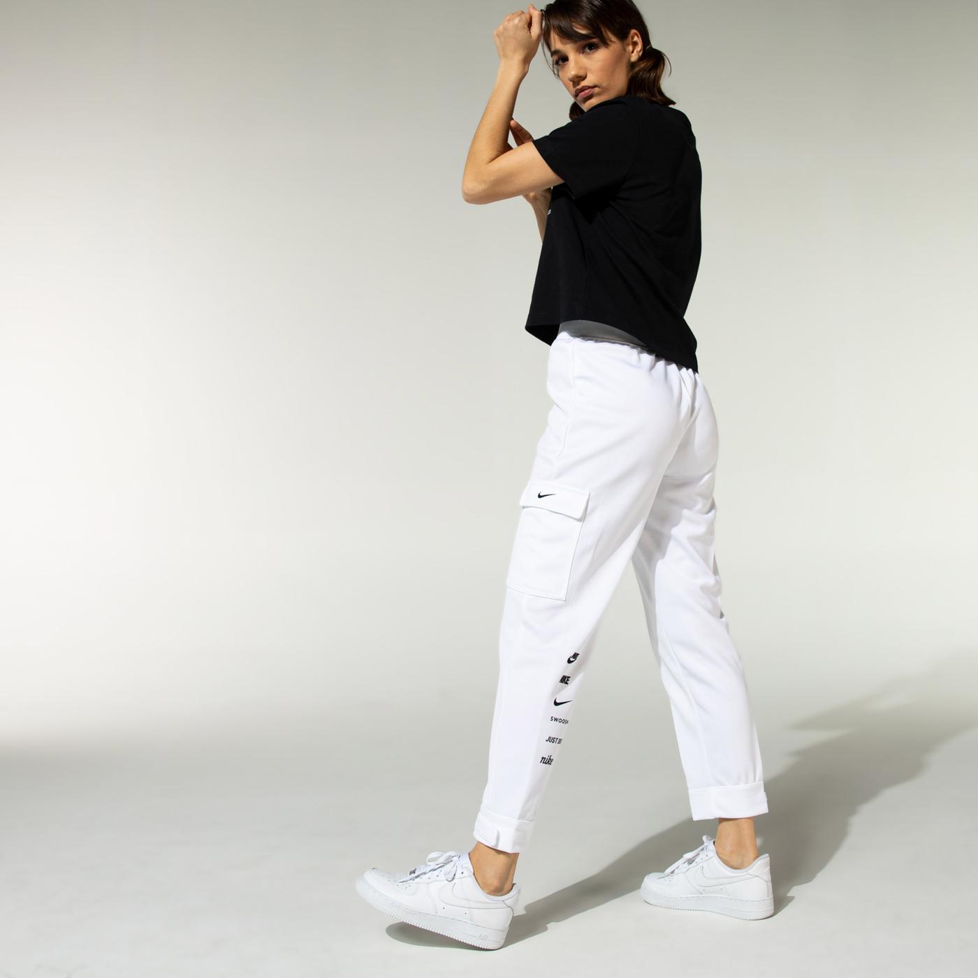 Nike Swoosh Kadın Beyaz Eşofman Altı