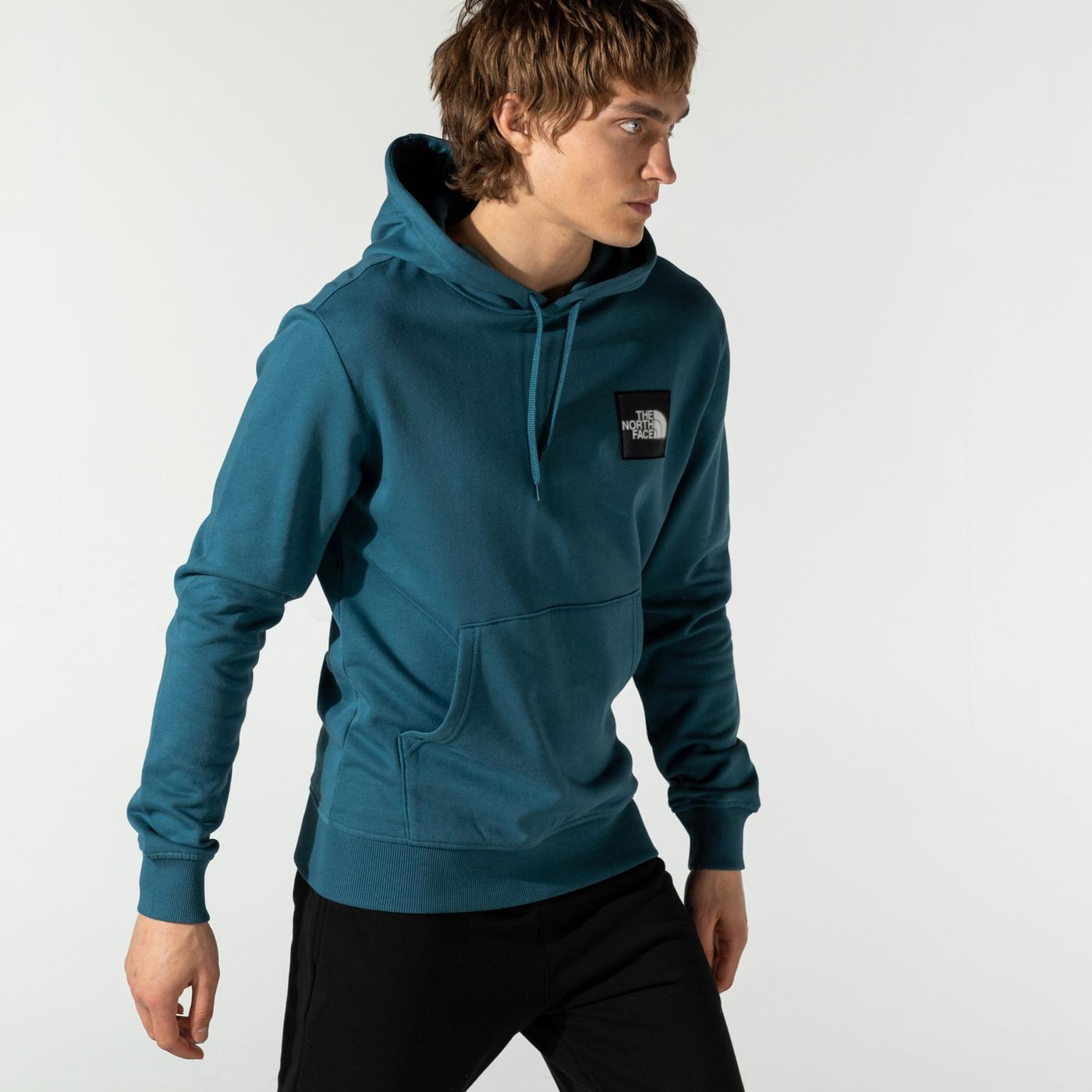 The North Face Blackbox Logo Hd Erkek Mavi Sweatshirt