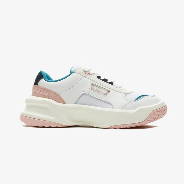Lacoste Ace Lift 0721 2 Sfa Kadın Beyaz - Pembe Spor Ayakkabı