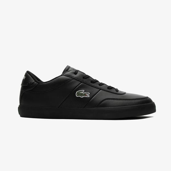Lacoste Court-Master 0721 1 Cma Erkek Siyah Spor Ayakkabı