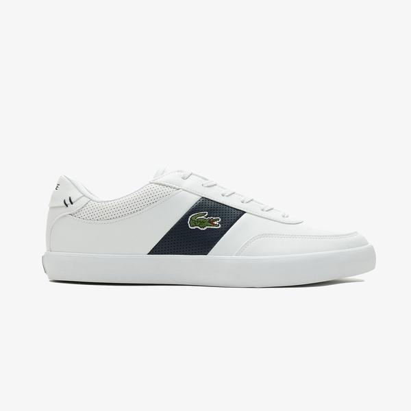 Lacoste Court-Master 0721 1 Cma Erkek Beyaz - Lacivert Spor Ayakkabı