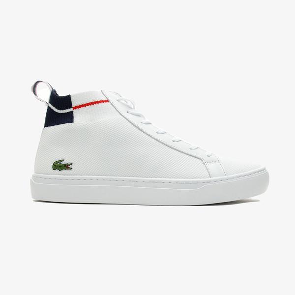 Lacoste La Piquee Mid 0721 1 Cma Erkek Beyaz - Lacivert - Kırmızı Spor Ayakkabı