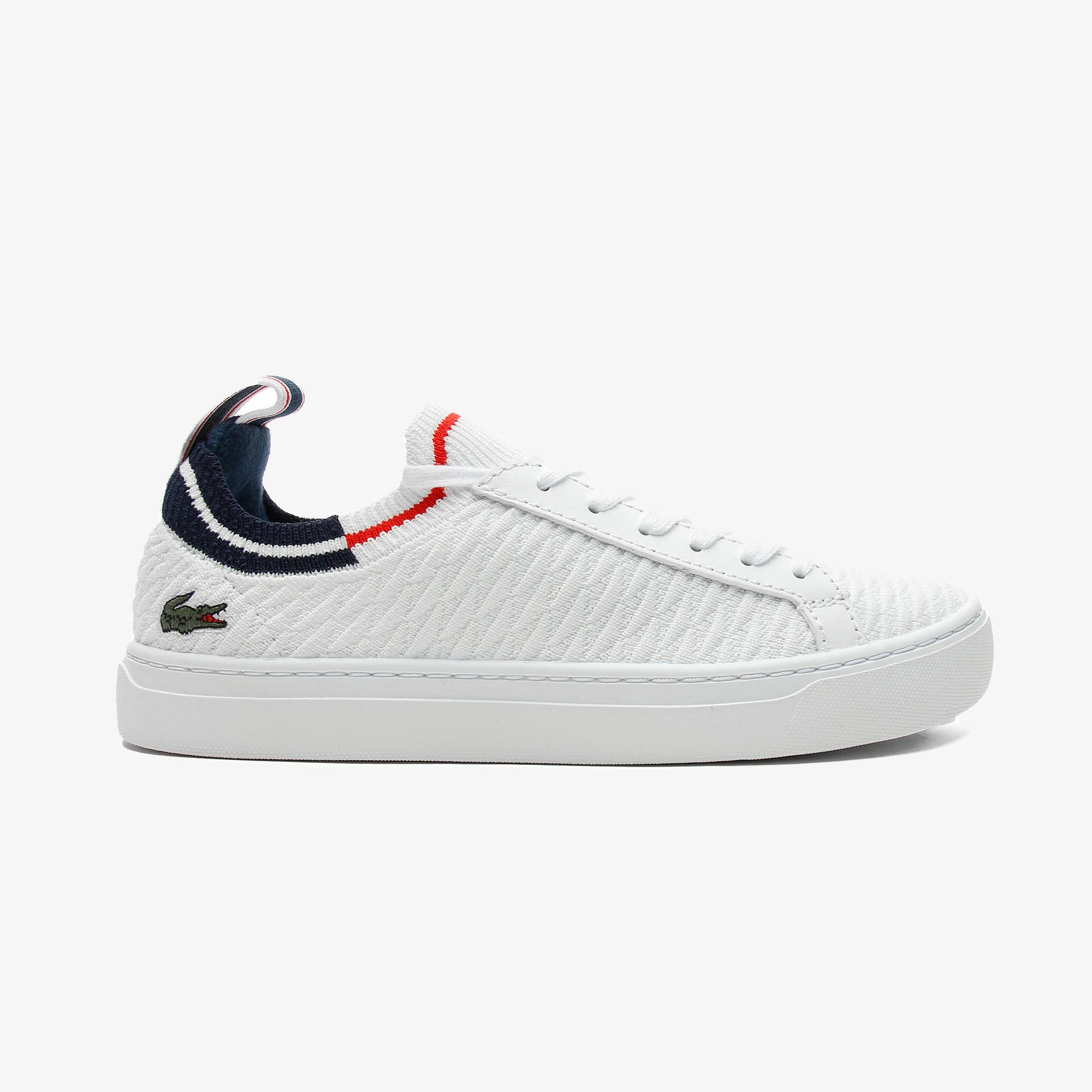 Lacoste La Piquee 0721 1 Cfa Kadın Beyaz - Lacivert - Kırmızı Spor Ayakkabı