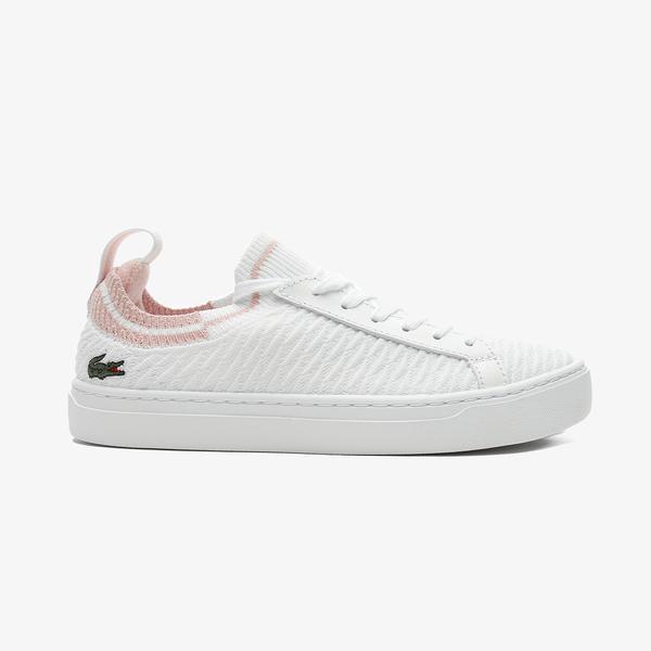 Lacoste La Piquee 0721 1 Cfa Kadın Beyaz - Açık Pembe Spor Ayakkabı