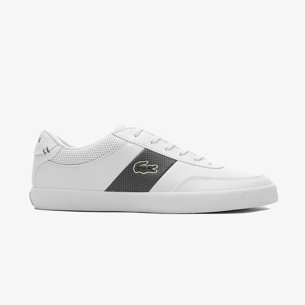 Lacoste Court-Master 0721 1 Cma Erkek Beyaz - Kahverengi Spor Ayakkabı