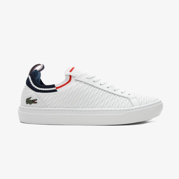 Lacoste La Piquee 0721 1 Cma Erkek Beyaz - Lacivert - Kırmızı Spor Ayakkabı