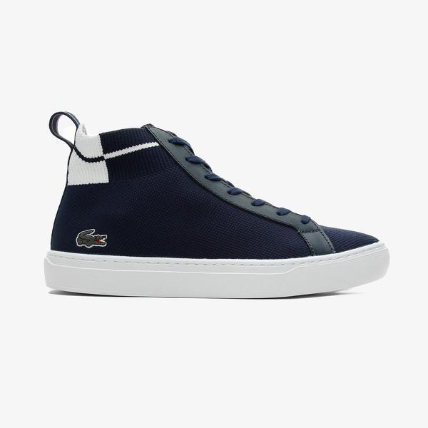 Lacoste La Piquee Mid 0721 1 Cma Erkek Lacivert - Beyaz Spor Ayakkabı