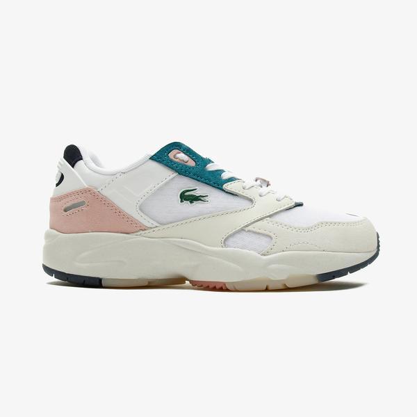Lacoste Storm 96 Lo 0921 1 Sfa Kadın Beyaz - Açık Pembe Spor Ayakkabı