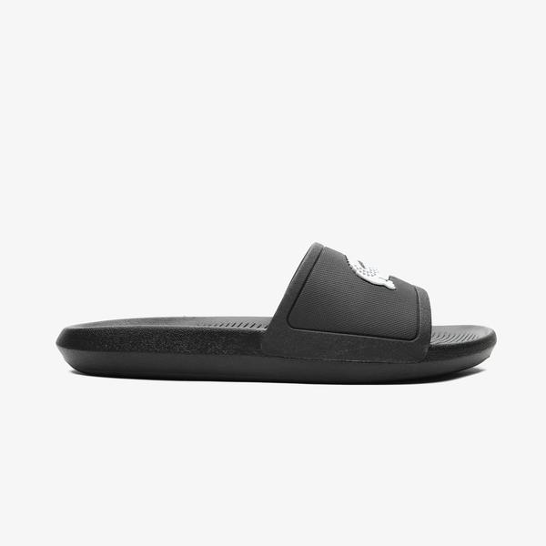 Lacoste Croco Slide 119 1 Cma Kadın Siyah - Beyaz Terlik