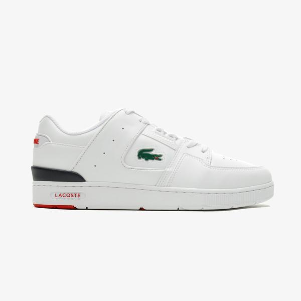 Lacoste Court Cage 0721 1 Sma Erkek Beyaz - Lacivert - Kırmızı Spor Ayakkabı