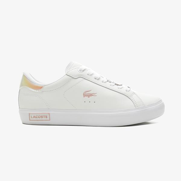 Lacoste Powercourt 0921 1 Sfa Kadın Beyaz - Pembe Spor Ayakkabı