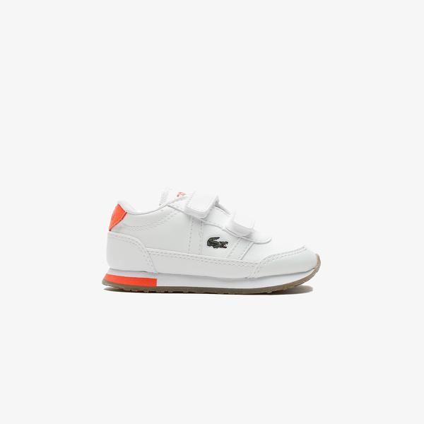 Lacoste Partner 0721 1 Sui Çocuk Beyaz - Pembe Spor Ayakkabı