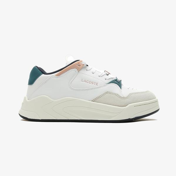 Lacoste Court Slam 0721 3 Sfa Kadın Beyaz - Açık Pembe Spor Ayakkabı