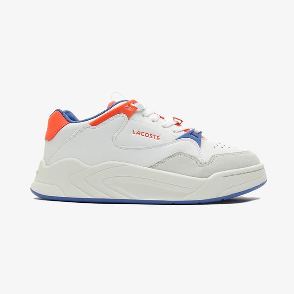 Lacoste Court Slam 0721 3 Sfa Kadın Beyaz - Mavi Spor Ayakkabı