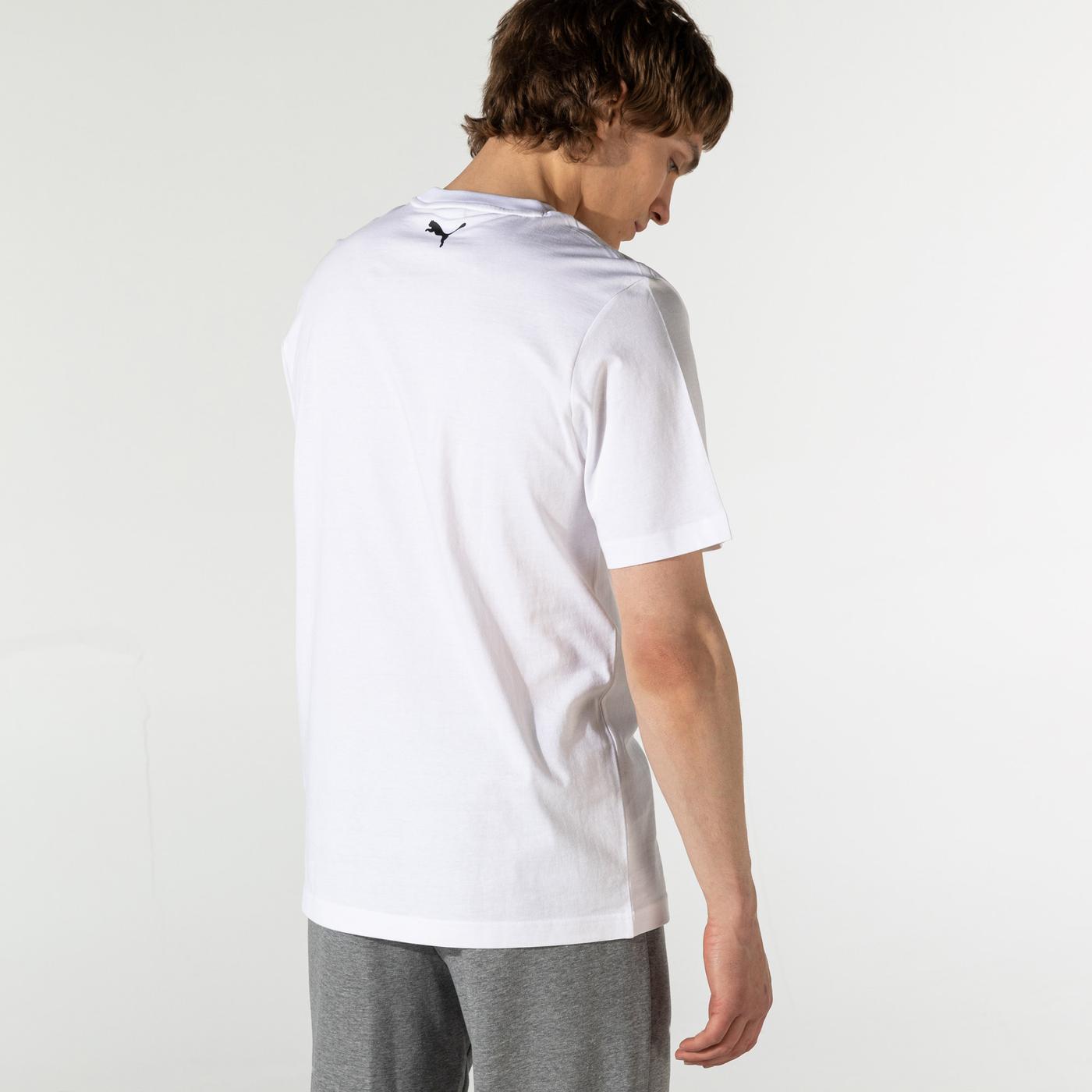 Puma Decor8 Graphic Unisex Beyaz T-Shirt