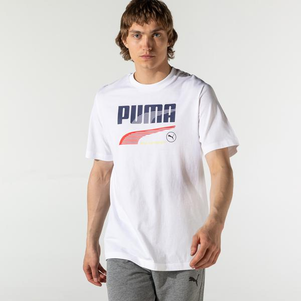 Puma Decor8 Graphic Unisex Beyaz T-Shirt