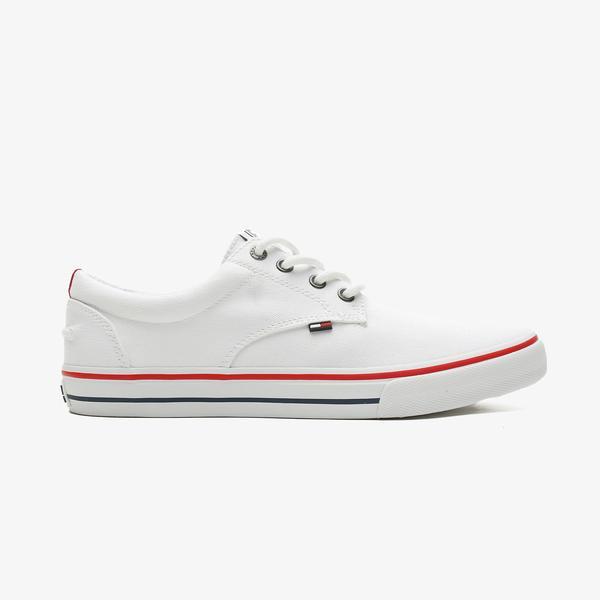 Tommy Hilfiger Tommy Jeans Textile Erkek Beyaz Spor Ayakkabı