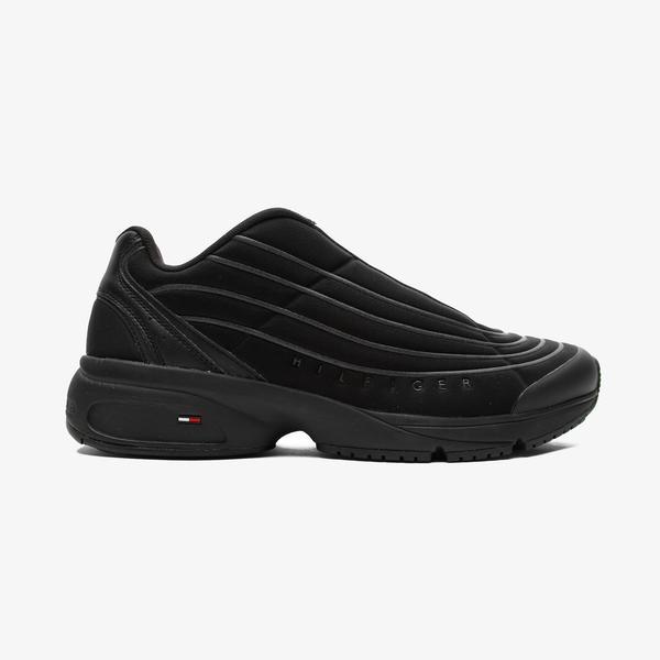 Tommy Hilfiger Heritage Mix Reflective Erkek Siyah Spor Ayakkabı