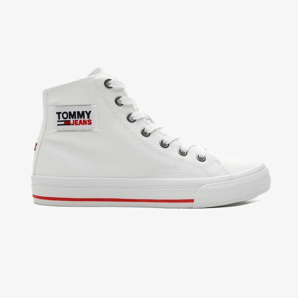 Tommy Hilfiger Tommy Jeans Midcut Vulc Kadın Beyaz Spor Ayakkabı