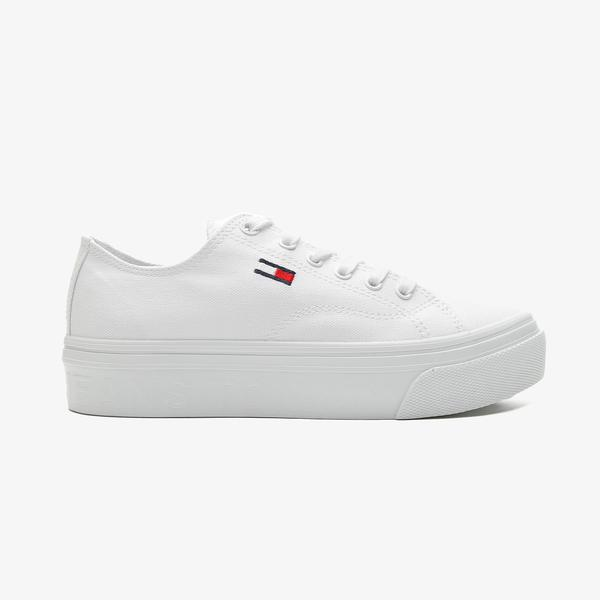 Tommy Hilfiger Tommy Jeans Flatform Vulc Kadın Beyaz Spor Ayakkabı