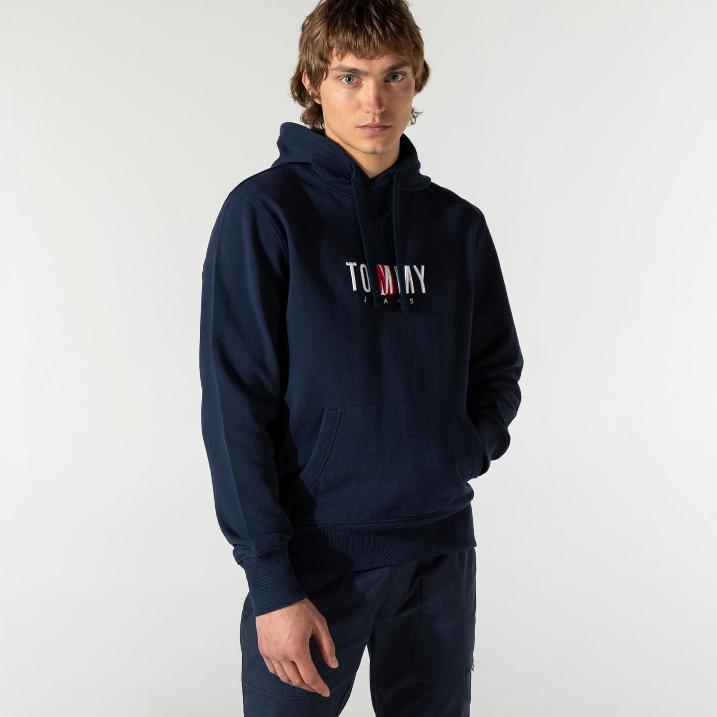Tommy Hilfiger TJM Timeless Tommy 2 Erkek Lacivert Sweatshirt