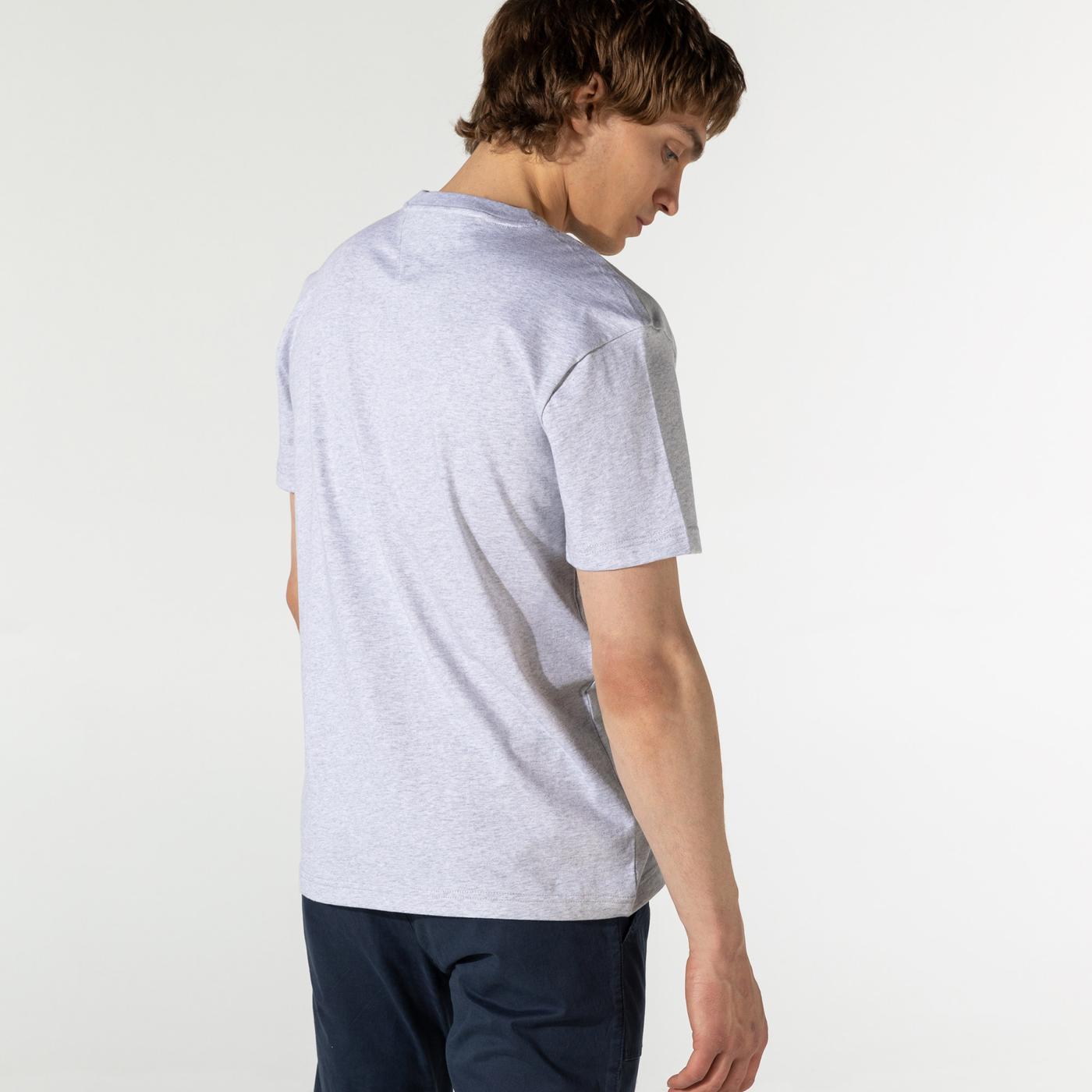 Tommy Hilfiger TJM Varsity Bball Graphic Erkek Gri T-Shirt