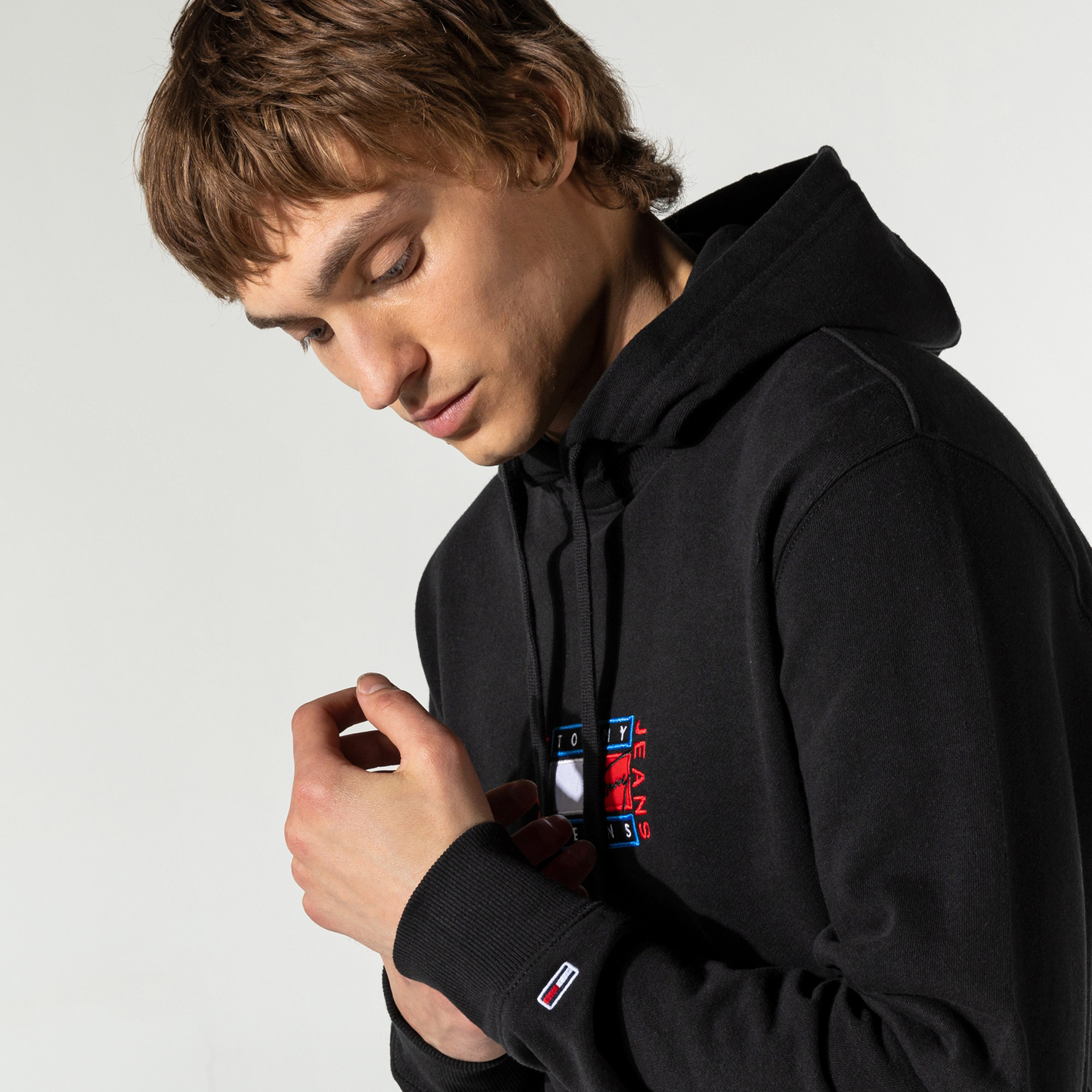 Tommy Hilfiger TJM Timeless Tommy 3 Erkek Siyah Sweatshirt