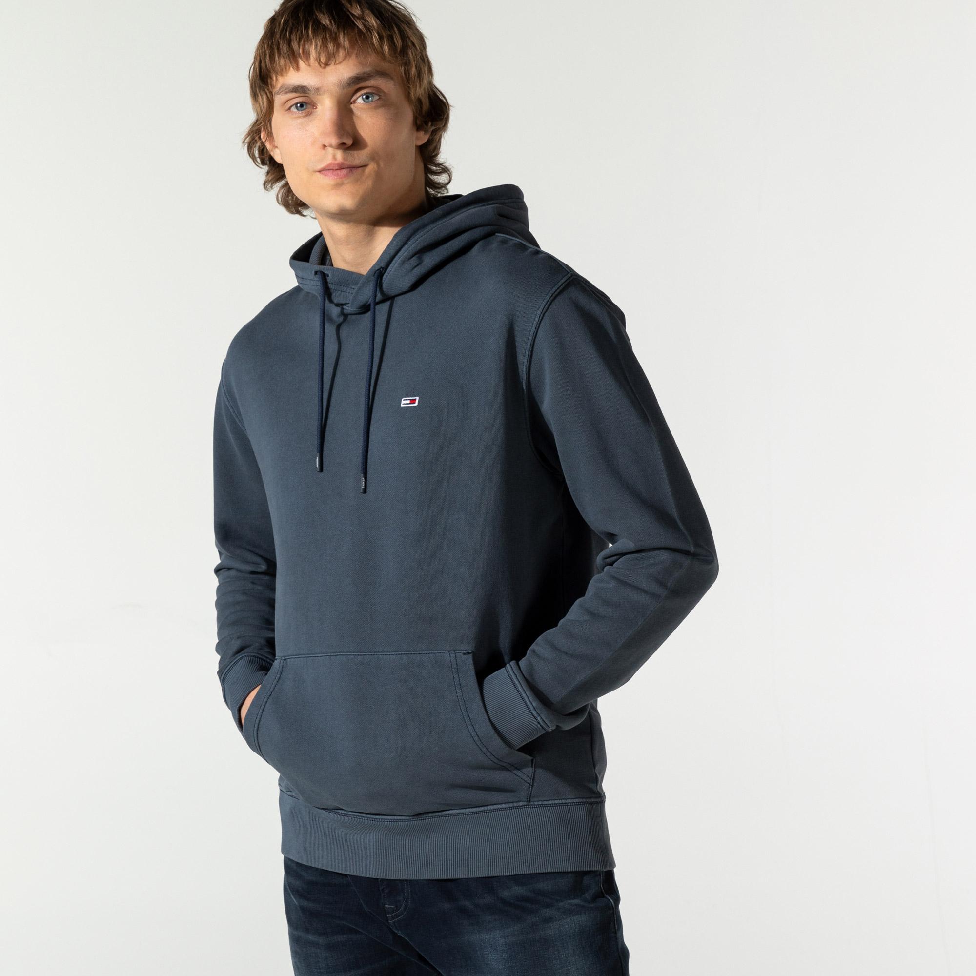 Tommy Hilfiger Erkek Mavi Sweatshirt