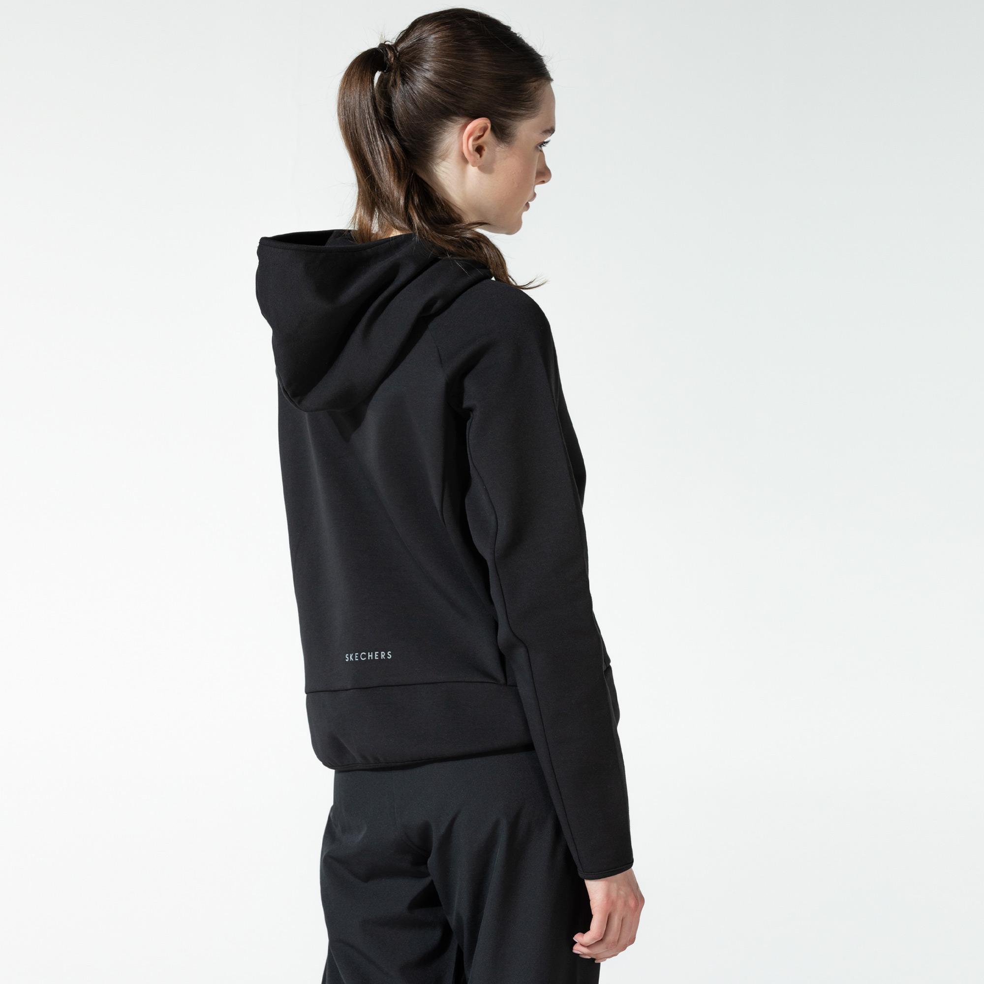 Skechers 2X-i Lock Kadın Siyah Sweatshirt