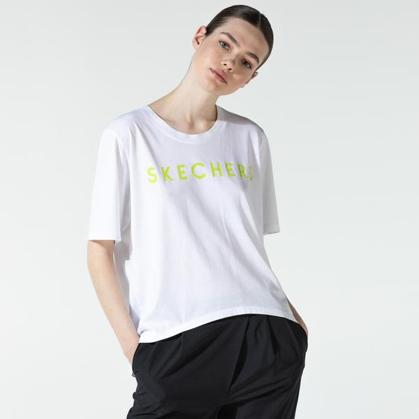 Skechers Kadın Beyaz T-Shirt