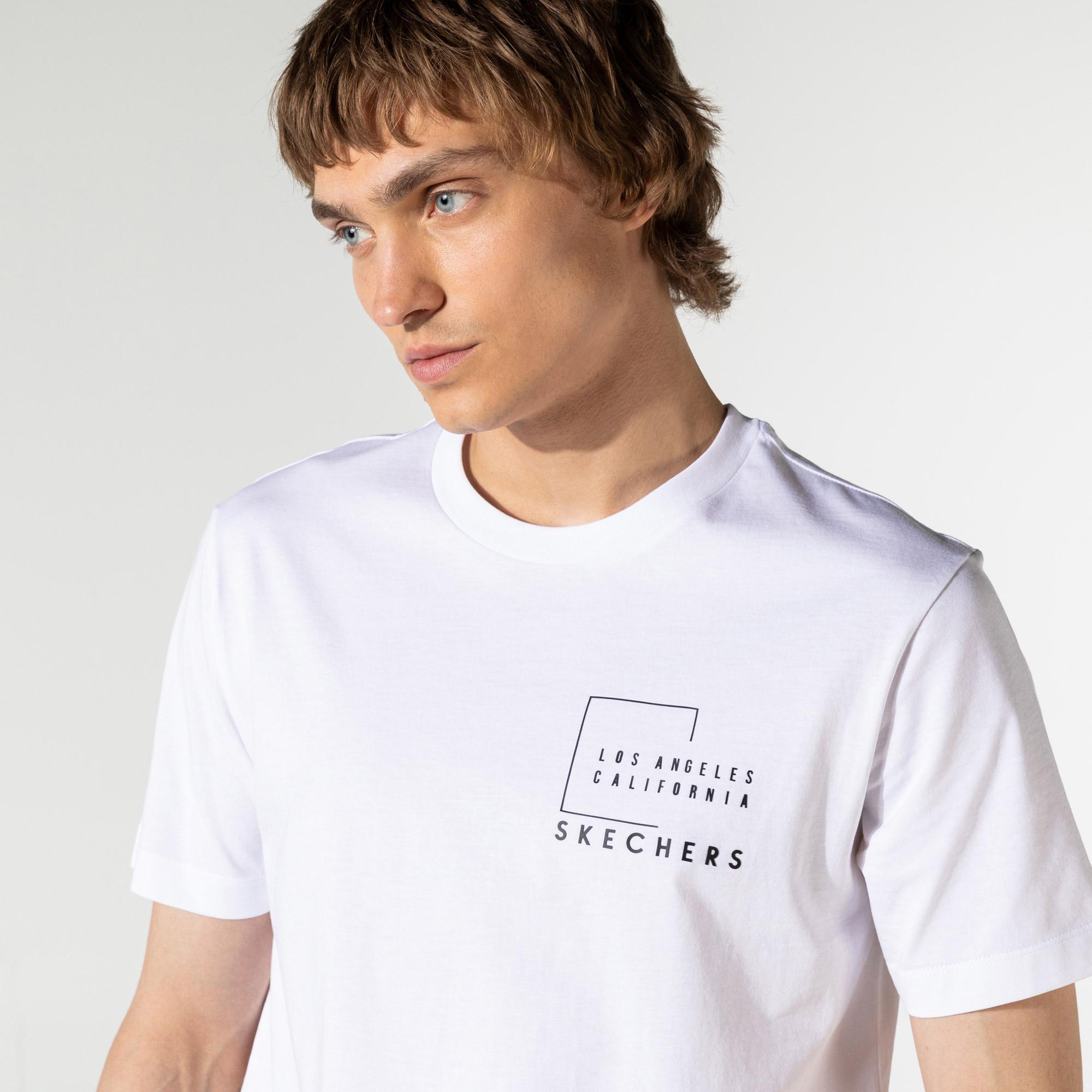Skechers Erkek Beyaz T-Shirt