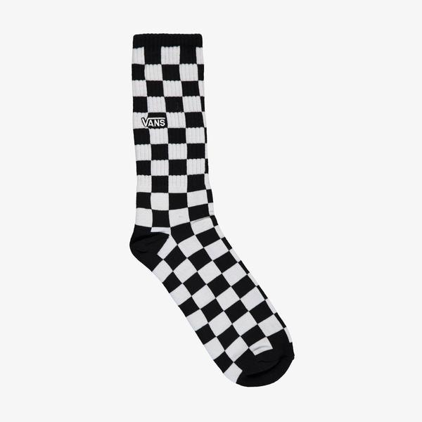 Vans Checkerboard II Crew Erkek Siyah Çorap