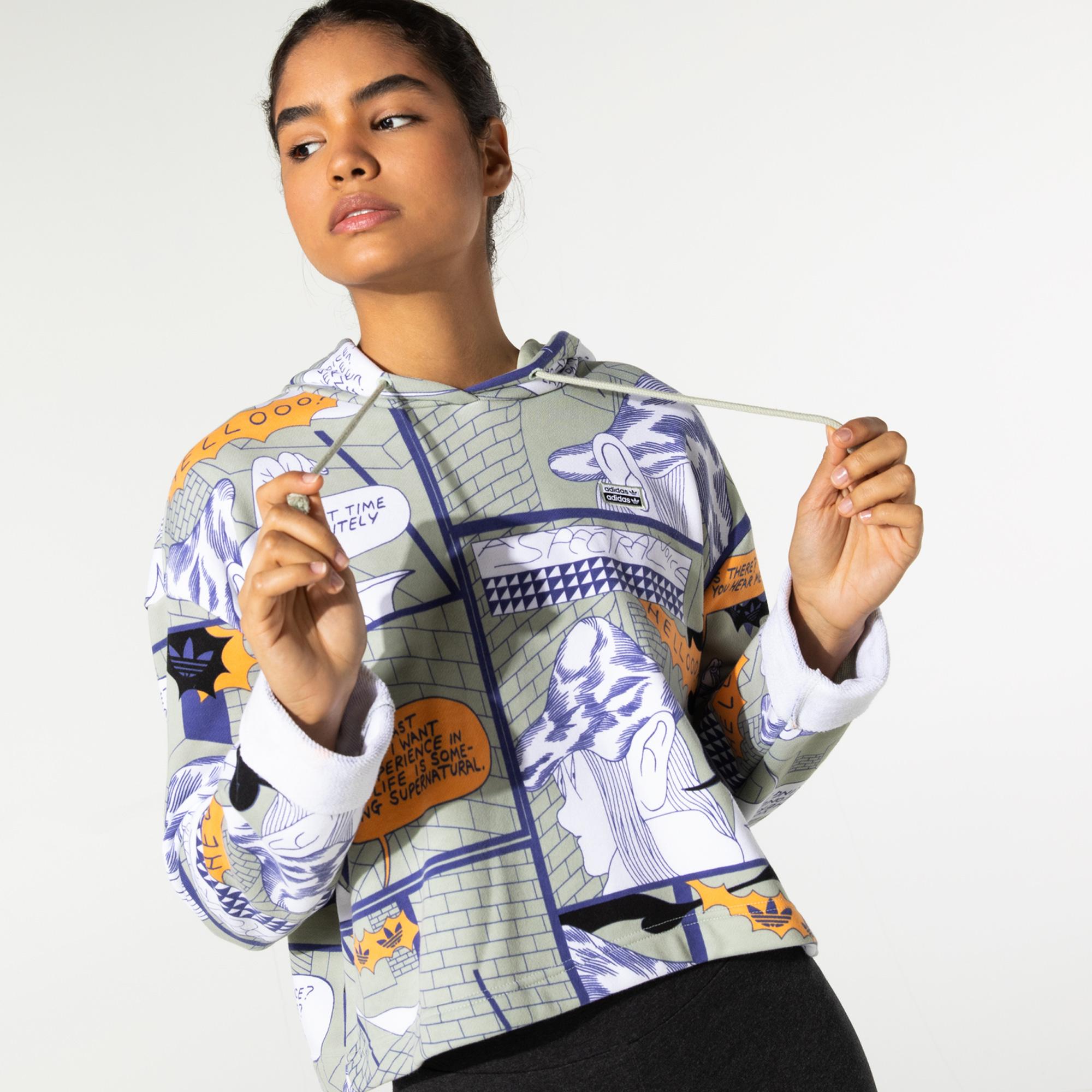 adidas R.Y.V Kadın Renkli Sweatshirt