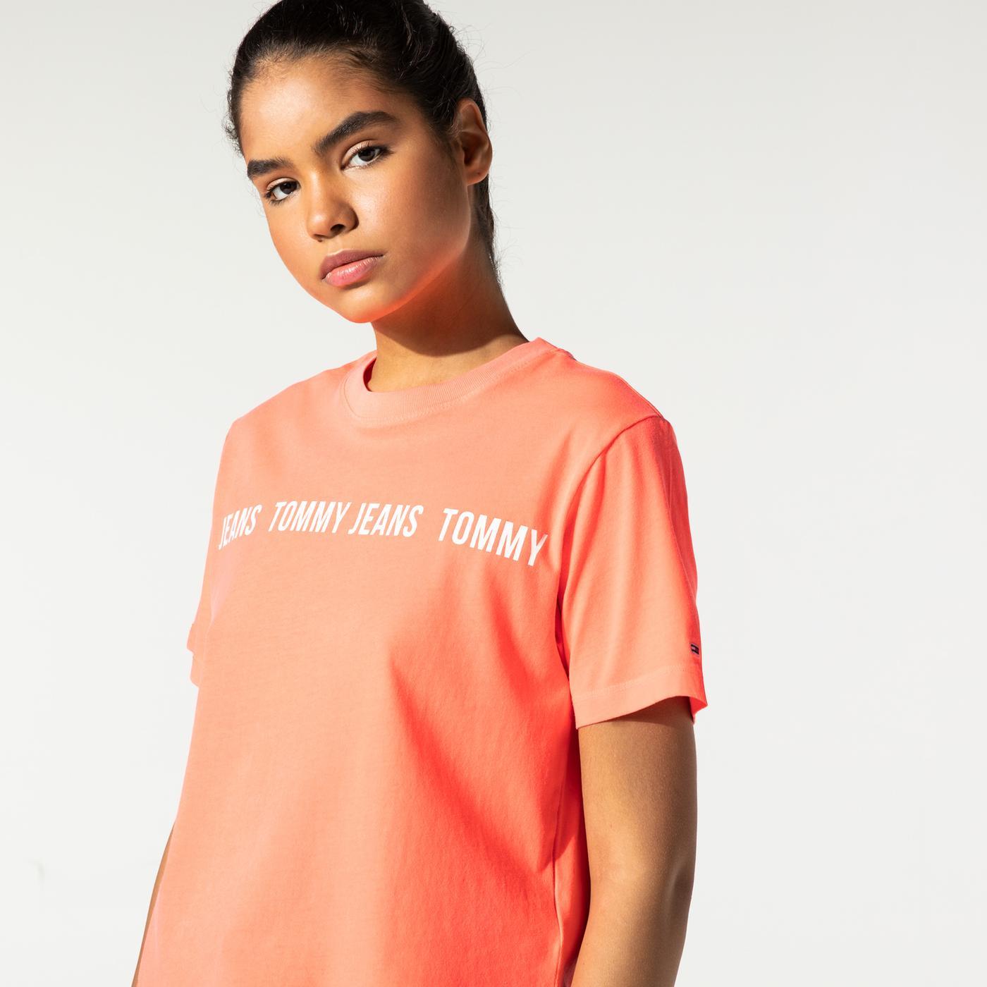 Tommy Hilfiger TJW BXY Crop Tape SS Kadın Pembe T-Shirt