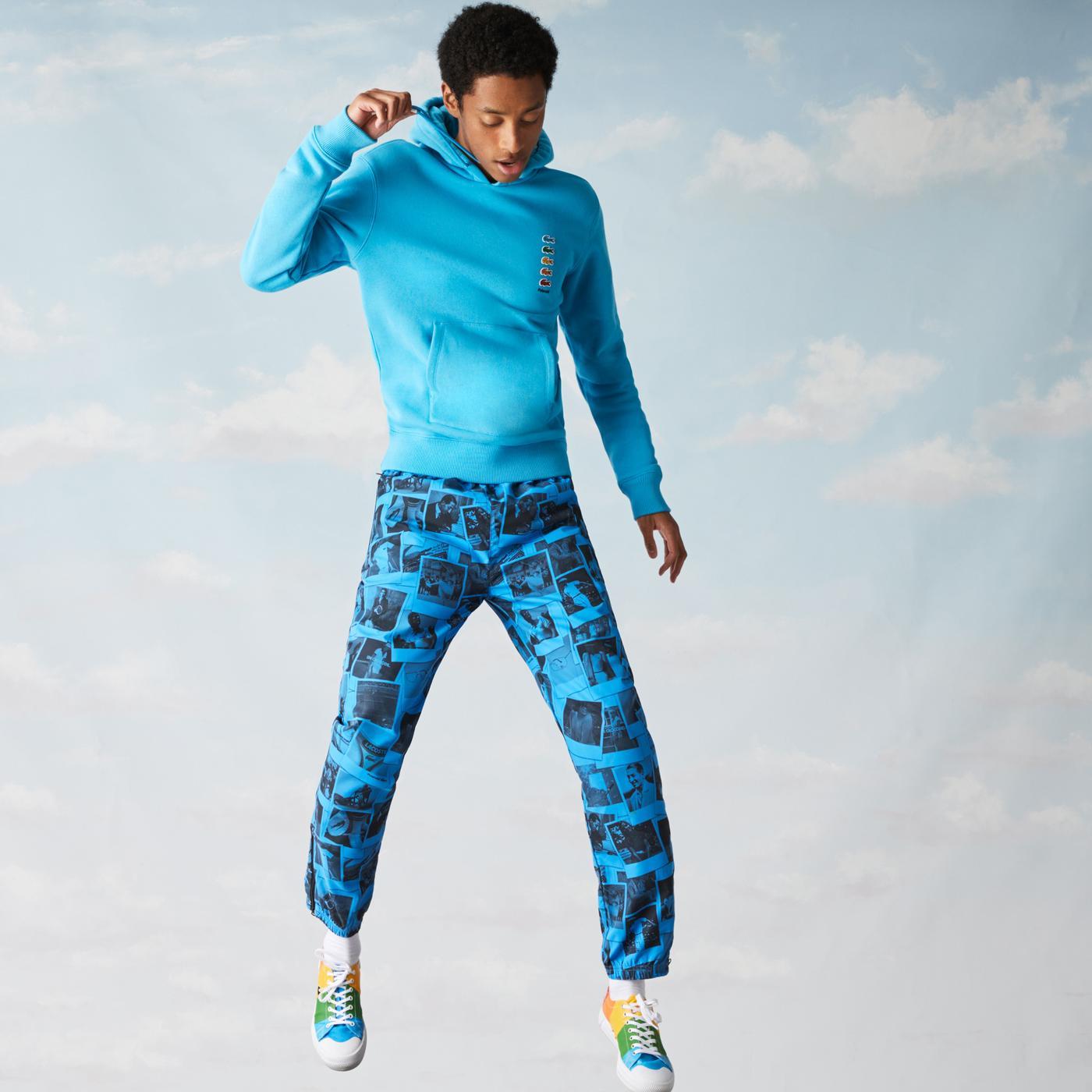 Lacoste Unisex Kapüşonlu Mavi Sweatshirt