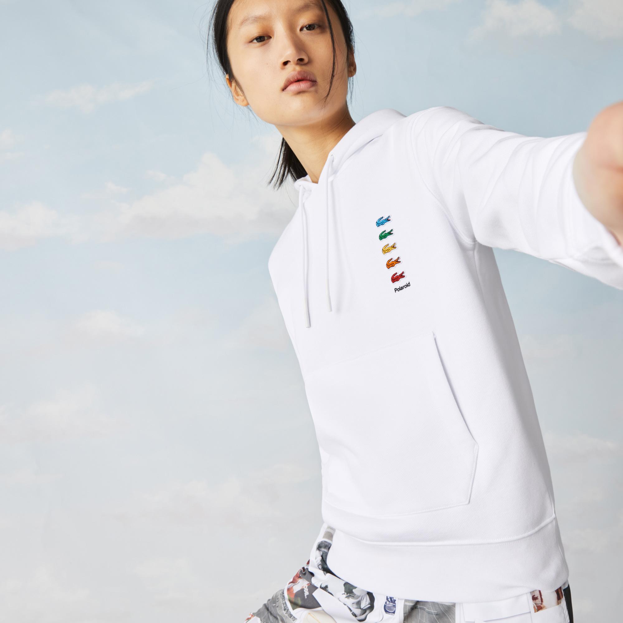 Lacoste Unisex Kapüşonlu Beyaz Sweatshirt