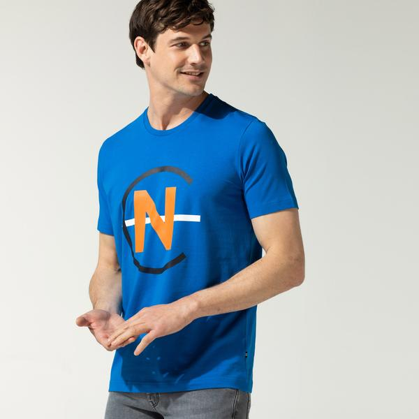 Nautica Erkek Mavi Baskılı T-Shirt