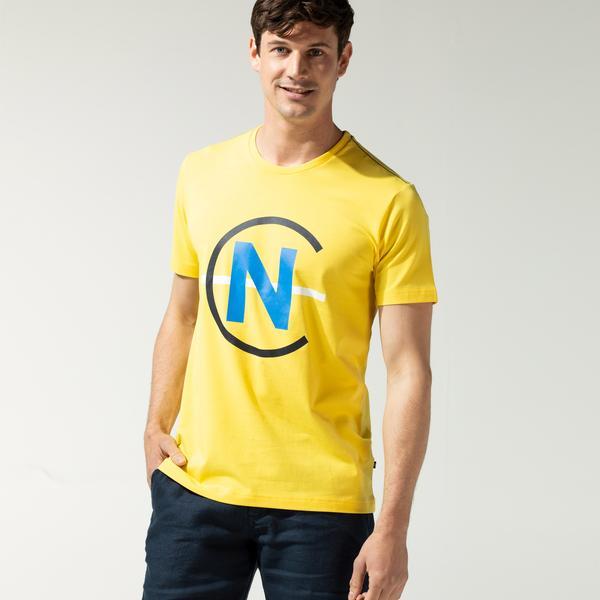 Nautica Erkek Sarı Baskılı T-Shirt