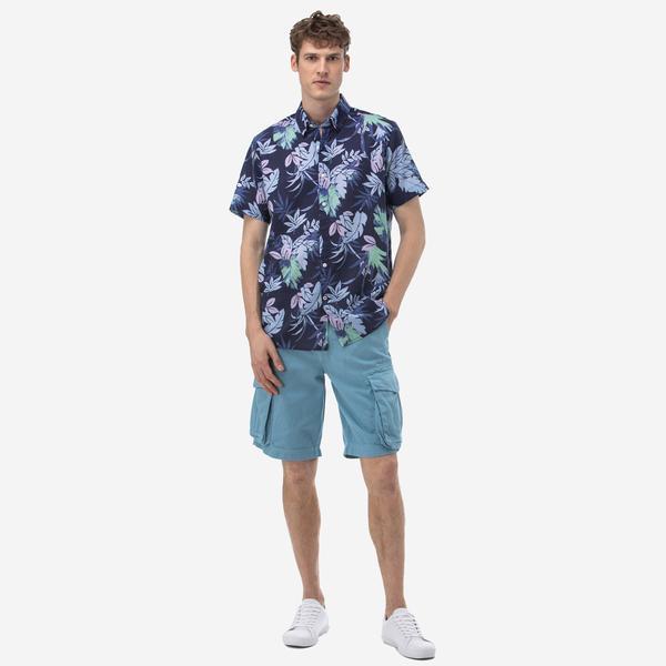 Nautica Erkek Mavi Bermuda Şort