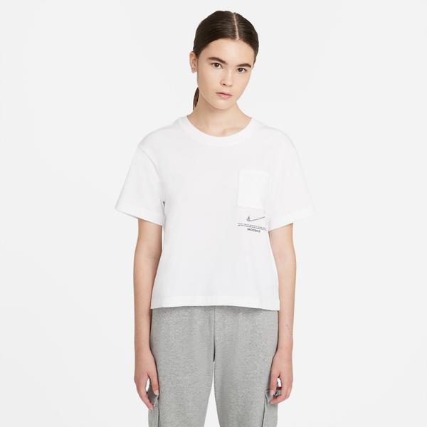 Nike Swoosh Kadın Beyaz T-Shirt