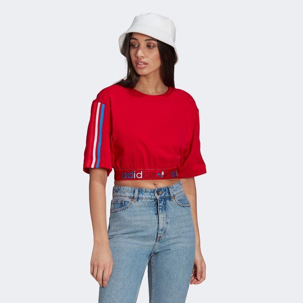 adidas Primeblue Kadın Kırmızı T-Shirt