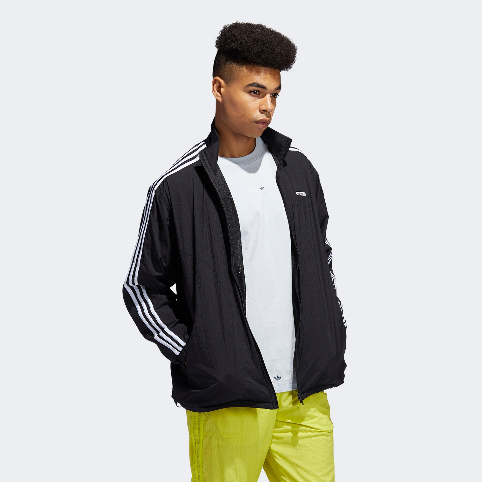 adidas Reverse Erkek Siyah Fermuarlı Eşofman Üstü