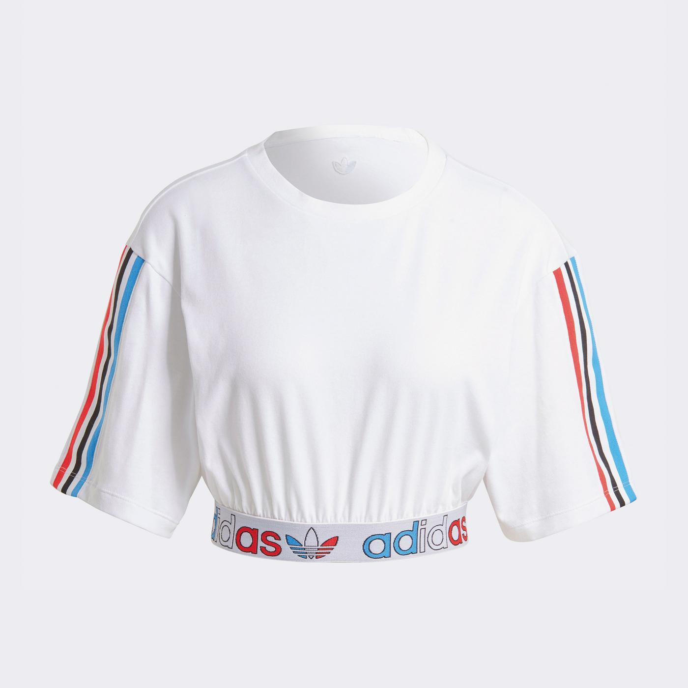 adidas Primeblu Kadın Beyaz T-Shirt
