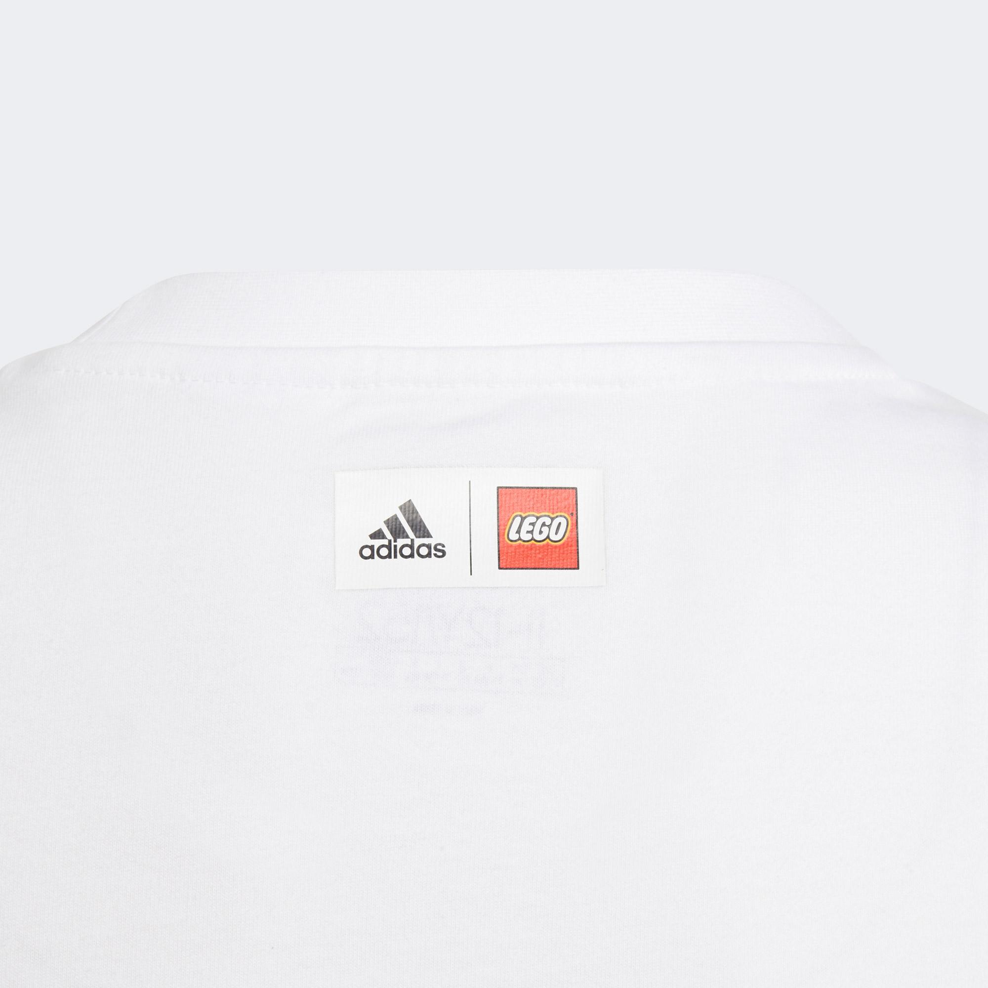 adidas Lego Dots G 2 Çocuk Beyaz T-Shirt