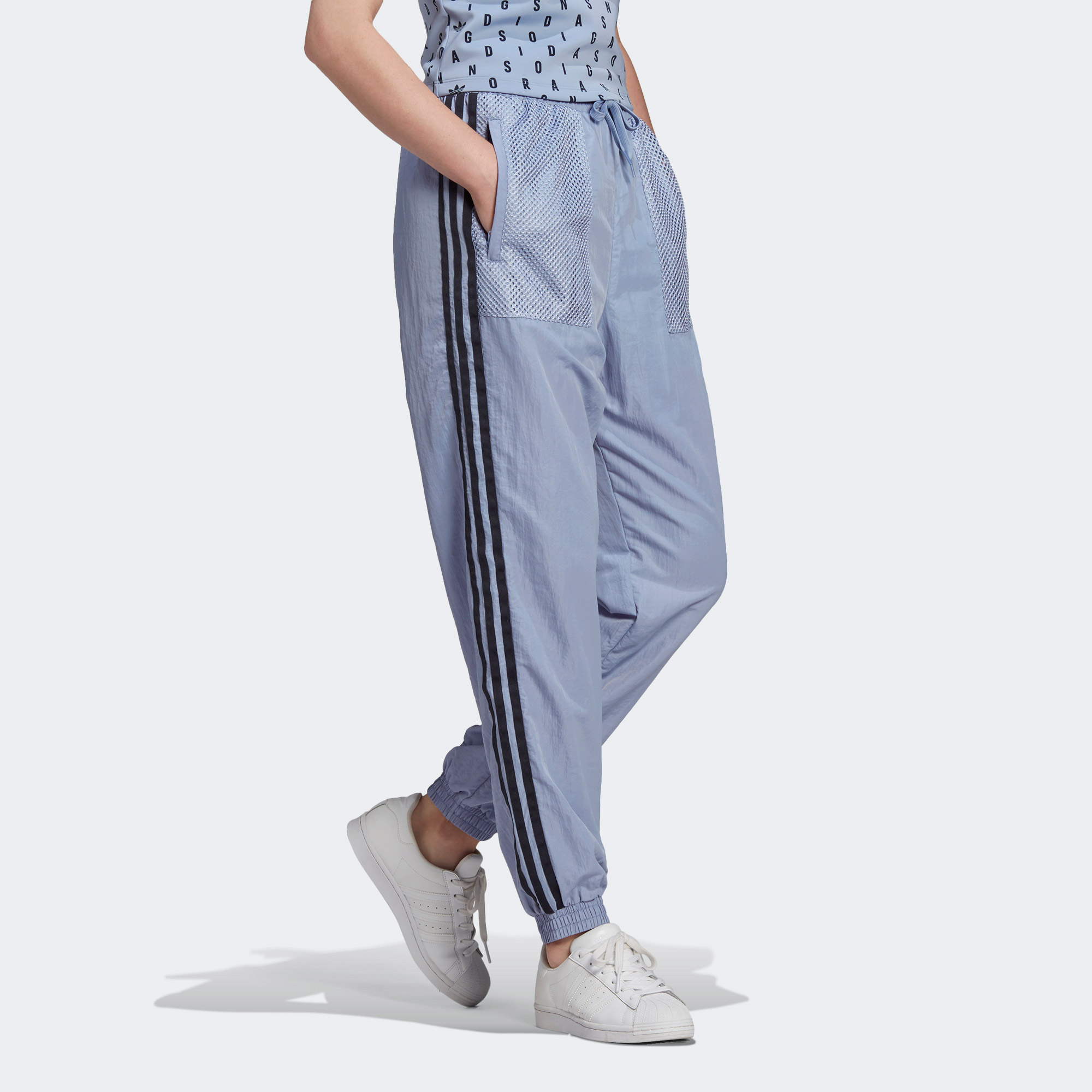 adidas Nylon Pant Kadın Mavi Eşofman Altı