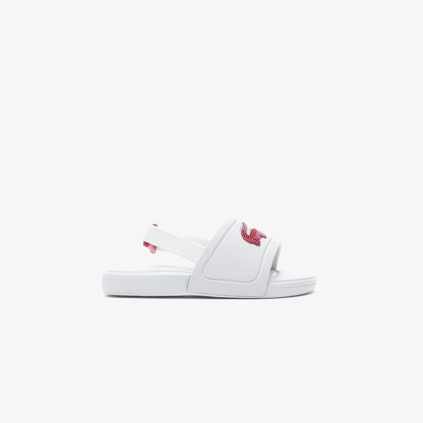 Lacoste Çocuk Beyaz - Koyu Pembe Sandalet