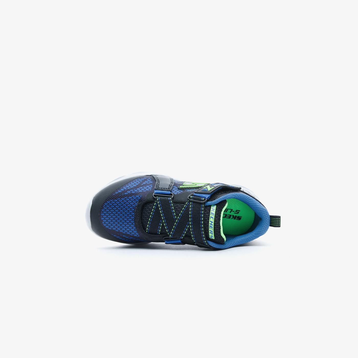 Skechers Vortex Flash - Denlo Çocuk Siyah-Mavi Spor Ayakkabı