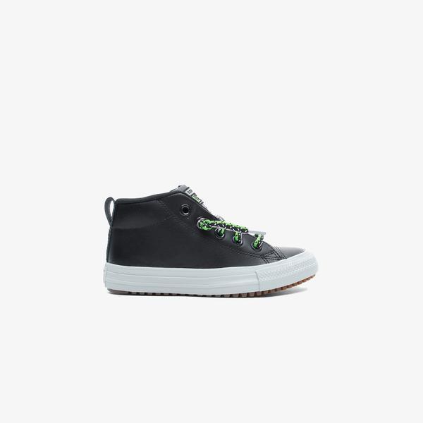 Converse Chuck Taylor All Star Street Boot Mid Çocuk Siyah Sneaker