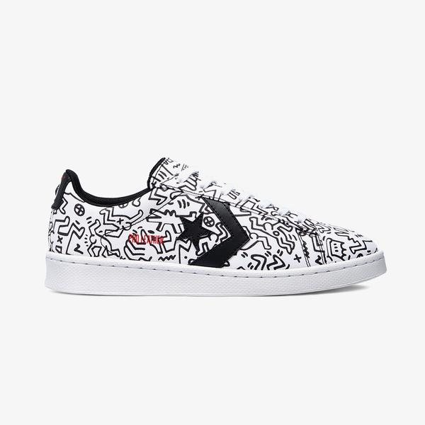 Converse x Keith Haring Pro Leather Ox Unisex Beyaz Sneaker